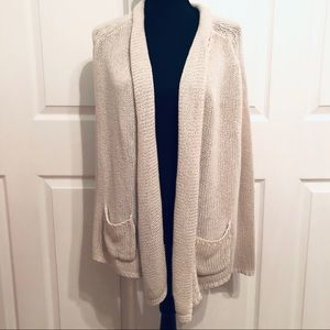 Matty M Chunky Knit Open Front Cardigan Sweater